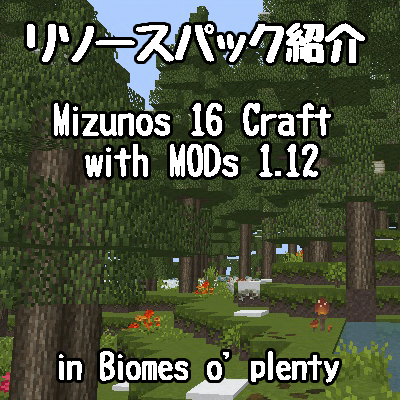 【リソースパック紹介】Mizunos 16 Craft with MODsの紹介